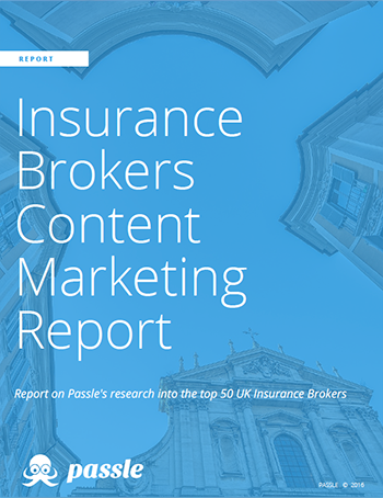 Insurance Brokers Content Marketing Report from Passle