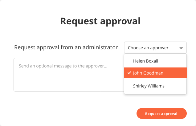 Request approval example